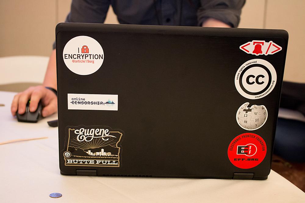 photoblog image Laptops of Rightscon