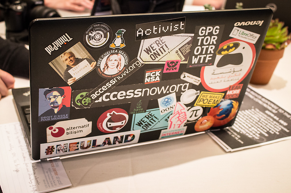 photoblog image Laptops of Rightscon